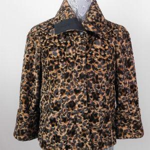 ETCETERA Leopard Faux Fur Jacket